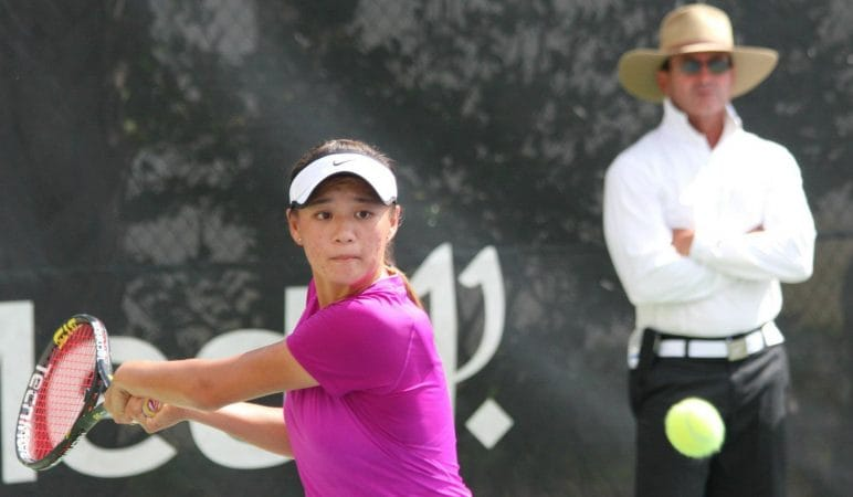 WTA Player Coco Xu with Gabe Jaramillo 2 - www.ClubMedAcademies.com