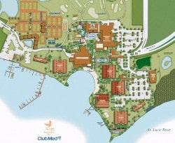 Sandpiper Map - www.ClubMedAcademies.com