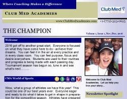 the-champion-volume-1-issue-1-nov-dec-2016 - www.ClubMedAcademies.com