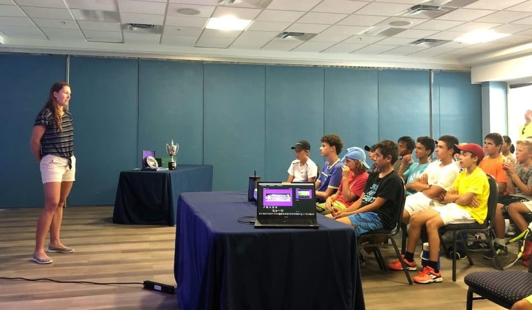 Wimbledon Champ Nicole Melichar - Club Med Academies Students