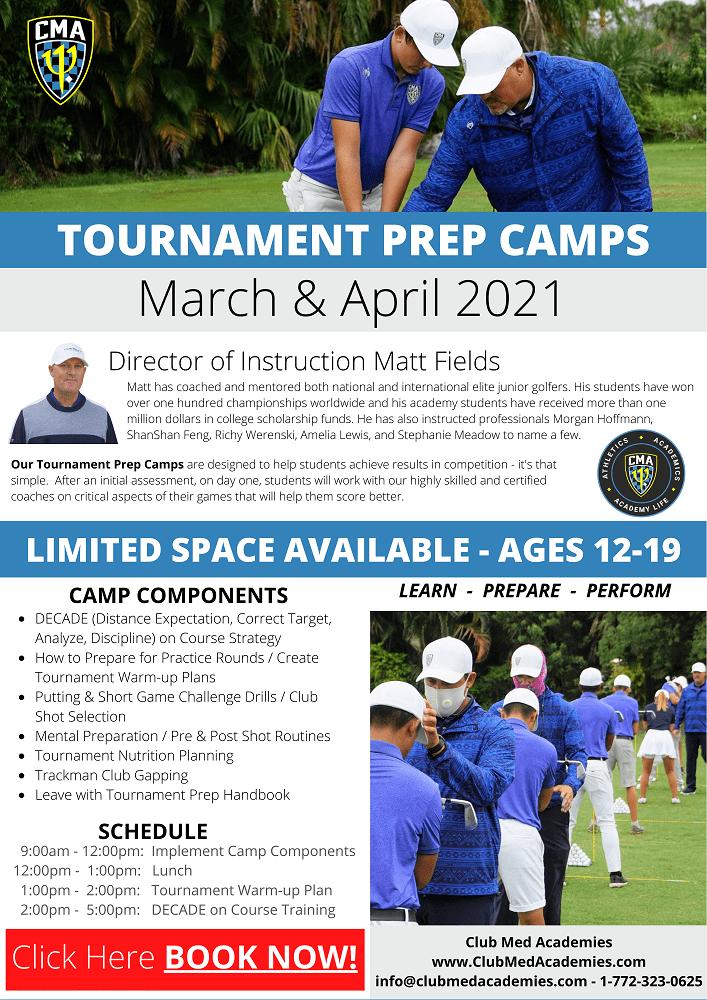 Club Med Academies Golf - Tournament Prep Camp 2021